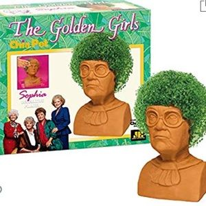New Golden Girls Sophia Chia Pet white elephant